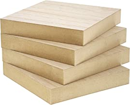 Bright Creations Unfinished Wood Square Blocks for DIY Crafts (4 Pack)