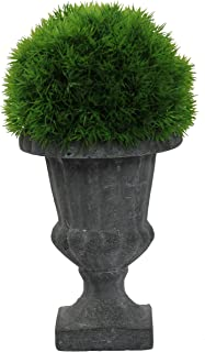 Admired By Nature ABN5P005-NTRL Faux Dill Topiary with in Urn, Small