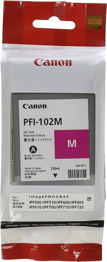 Canon Pfi 102m Tintenpatrone Magenta Für Ipf 500 600 Computer Zubehör