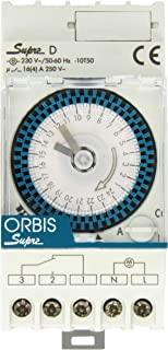 Orbis Supra D 230 V Interruptor horario analógico de distribución, OB290132N