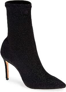 Schutz Sciarpe Glitter Sock Bootie - Black