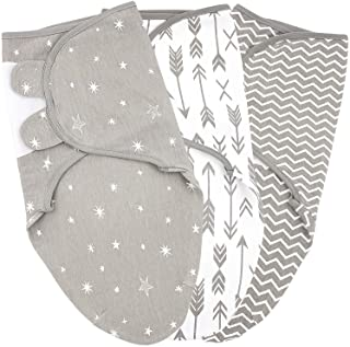 Baby Swaddle Blanket Wrap for Boy and Girl, 0-3-Month, Newborn Babies Swaddling Sack, Infant Adjustable Sleep Swaddles, Ga...