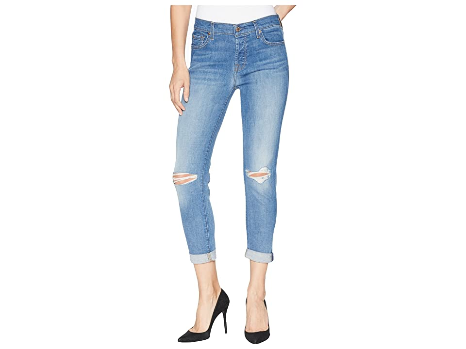 7 For All Mankind Josefina w/ Busted Knees in Heritage Artwalk 2 (Heritage Artwalk 2) Women's Jeans