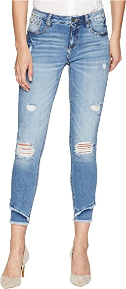 Mid-Rise Ankle Skinny Jeans in Denim