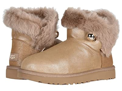 UGG Classic Fluff Pin Mini (Antique Pearl) Women