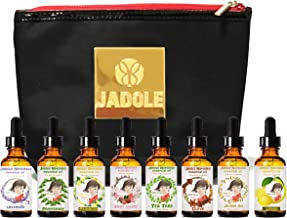 Essential Oils Set of 8 Essence With Hand Bag From Jadole Naturals 240 ML