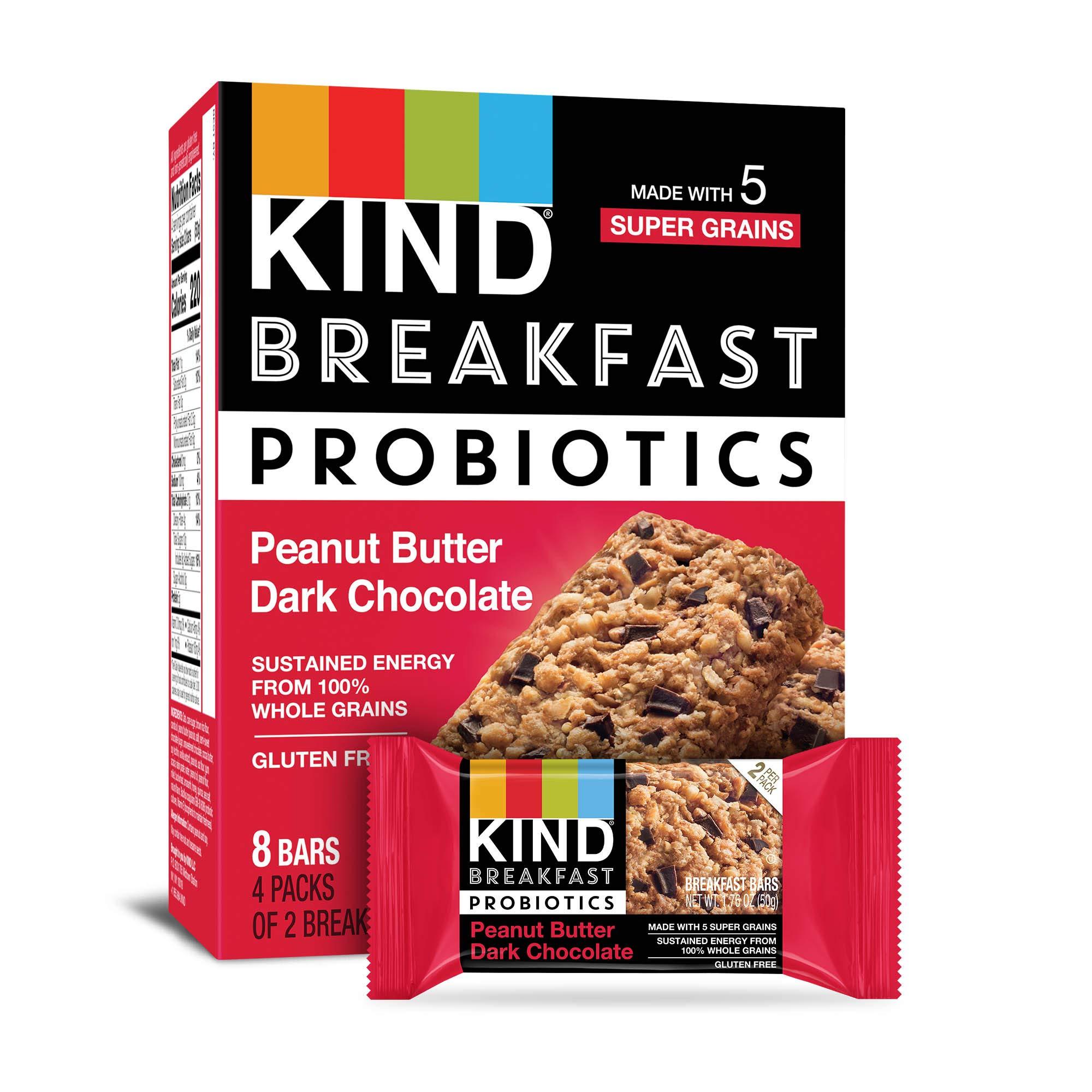 KIND Breakfast Probiotic Peanut Chocolate