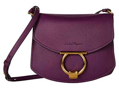 Salvatore Ferragamo Margot Crossbody (Bizantium Purple) Handbags