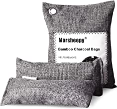 Marsheepy 3 Pack Activated Bamboo Charcoal Purfying Bags, Charcoal Odor Absorber, Odor Eliminators for Home, Pets, Car, Cl...