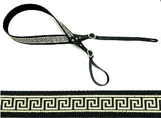 GREEK KEY Cotton USA-made A & F-style TROPHY Mandolin Strap