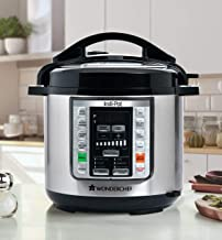 Indi-Pot 6 Quart Indian Cooking Multi-use Programmable 7-in-1 Stainless Steel Pressure Cooker, Steamer, Yogurt Maker, Sauté, Rice Cooker, Warmer and Slow Cooker with Indian Food Recipes; 6 Qts; Silver
