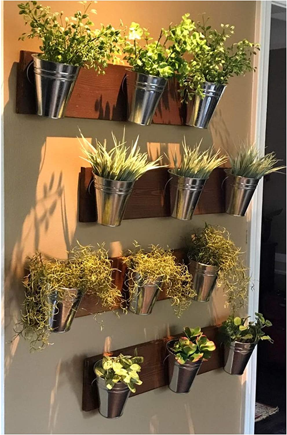 Home Oniship Art Deco Indoor Limited price Limited price sale Wall Planter -Wood Horizontal Grain