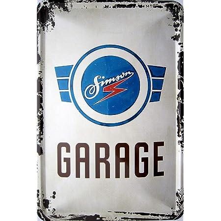 Vielesguenstig 2013 Blechschild 20x30cm Simson Garage Vintage Logo