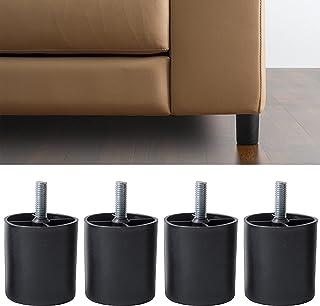 IPEA Lot de 4 Pieds en Plastique pour canapé et Meubles - Hauteur 60 mm - Lot de 4 Pieds avec vis pour Fauteuil - Pieds - ...