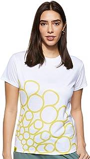 Expo 2020 Dubai Women's T-Shirt Made from Recycled Plastic Bottles - Yellow Quarter Logo