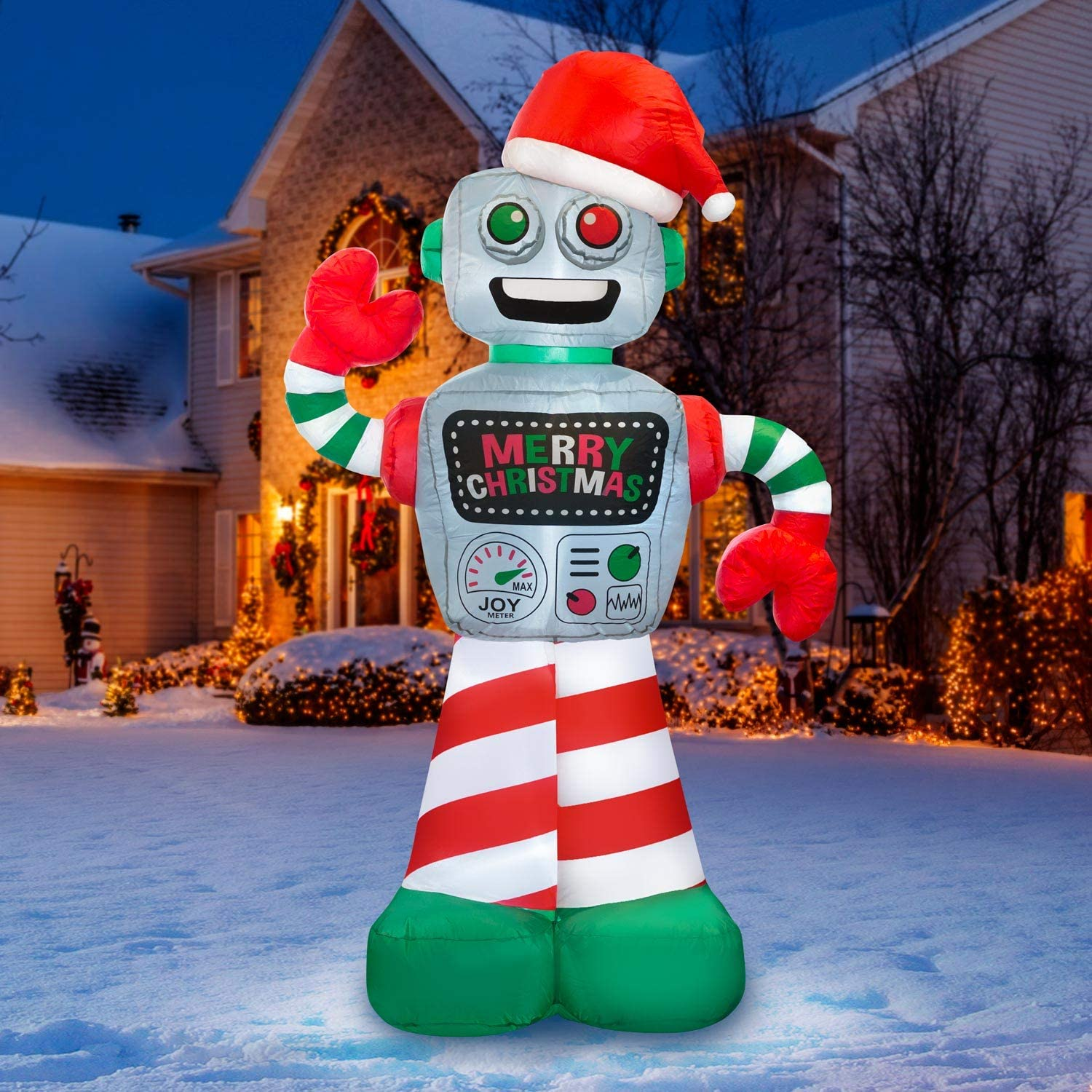 Holidayana 6 ft Detroit Mall Max 43% OFF Christmas Inflatable - Robot Yard Decoration f