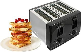 belaco BT-410 Toaster, 4 Slice, chrome, Plastic, 220 W