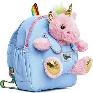 Naturally KIDS Backpacks for Girls Boys w Stuffed Animal