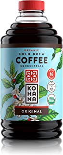 Kohana Cold Brew Coffee Concentrate, Organic, Original, 32 Ounce, Best Zero Calorie Low Acid Iced Coffee, Instant, Convenient and On The Go, Makes 16 Drinks, Single Bottle