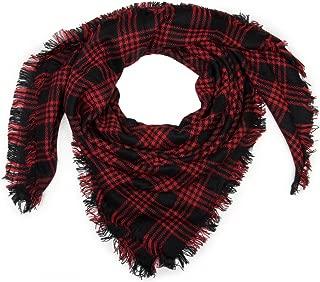 unisex coperte sciarpa frange Tartan Plaid A Quadri Motivo Quadrata XXL sciarpa
