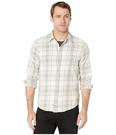Lucky Brand San Gabriel One-Pocket Shirt (White/Green/Gold) Men