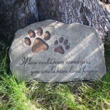 jinhuoba Dog Memorial Stone, Indoor Outdoor Dog or Cat for Garden Backyard Marker Grave Tombstone. Hand-Printed Personalized Loss of Pet Gifts