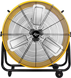 JPOWER 24 Inch High Velocity Air Movement Heavy Duty Metal Drum Fan 3 Speed Air Circulation for Industrial, Commercial, Residential, and Shop Use - ETL Safety Listed