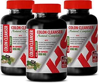 Colon Detox for Weight Loss - Colon Cleanser - Natural Complex - Licorice Root for weith Loss - 3 Bottles 270 Capsules