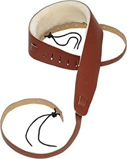 Levy's Leathers PM14-WAL Genuine Leather Banjo Strap with Sheepskin, Walnut