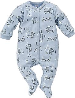 Pinokio Baby - Jungen oder Mädchen Schlafanzug einteilig/Strampler aus der Serie North hellblau Eisbär