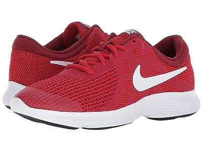 Nike Kids Revolution 4 (Big Kid) (Gym Red/White/Team Red/Black) Boys Shoes