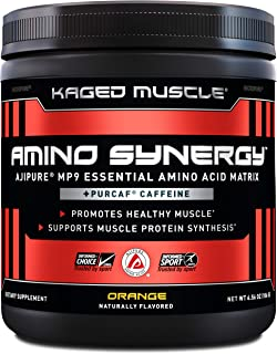 Kaged Muscle, Amino Synergy, BCAA + EAA Powder, Essential Amino Acid Supplement with Coconut Water, Orange + Caffeine, 30 ...