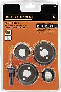 BLACK+DECKER Hole Saw Kit, Assorted, 5-Piece (71-120)
