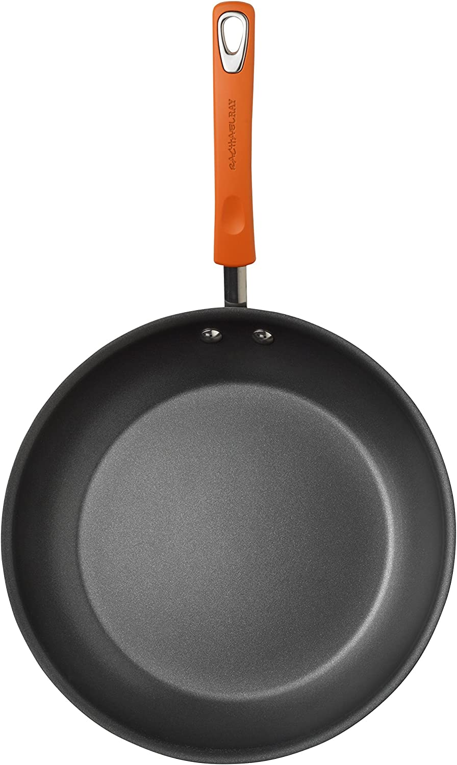Hard Anodized Nonstick Frying Pan//Fry Pan//Hard Anodized Skillet 8.5 Inch Gray with Orange Handles