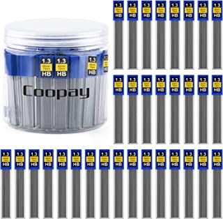 Coopay 720 Pieces Lead Refills 1.3 mm HB Break Resistant Mechanical Pencil Refills, 12 Pack Per Tube, 60 Tubes(1.3 mm)