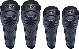 OHMOTOR Knee Guards,Knee/Shin Guard Knee Pads Crashproof Antislip Protective Shin Pads for Motorcycle Mountain Biking ATV Motocross(Knee Elbow Guard-Black)