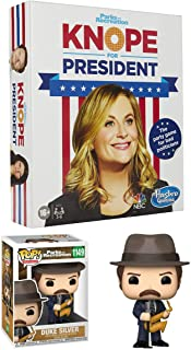 Bad Politic Parks + Recreation Funko Pop! Game Bundle:Duke Silver 1149 + Knope for President Party Game for Bad Politician...