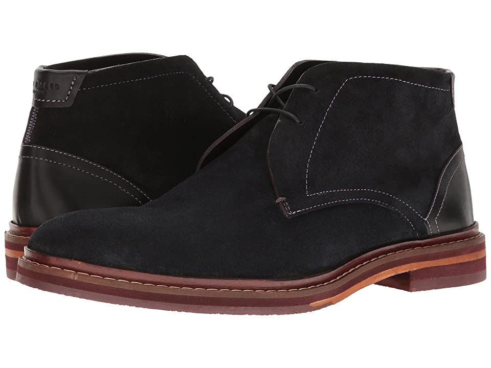 Ted Baker Azzlan (Dark Blue Suede) Men