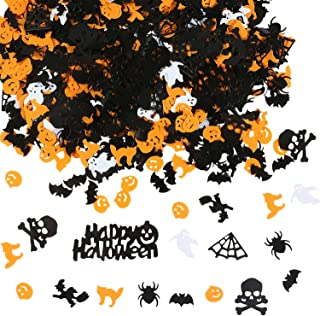 Aneco 160g Confetti Spider Witch Pumpkin Cat Ghost Bat Skeleton Sprinkles Table Confett Halloween Night Party Decoration