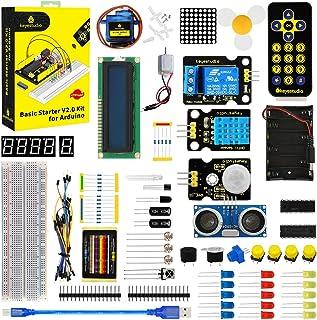 KEYESTUDIO Starter Kit for Arduino R3, Mega 2560, Nano, Raspberry Pi 4 Electronic Components Projects Kit with Relay 5v, L...