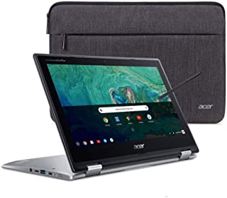 """Acer Chromebook Spin 11 Convertible Laptop, Intel Celeron N3350, 11.6"""" HD Touch Display, 4GB DDR4, 32GB eMMC, 802.11ac WiF..."""