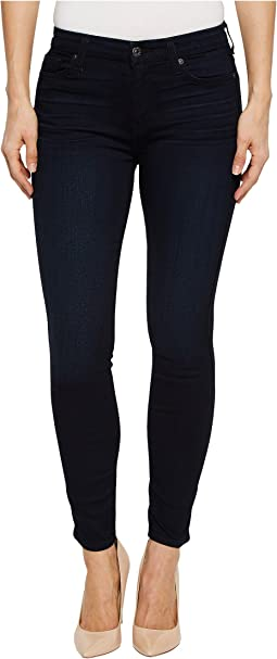 7 For All Mankind High-Waist Ankle Skinny in Blue Black Twilight