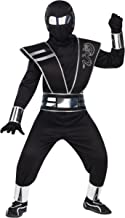 Fun World Mirror Ninja Silver Costume, Medium 8 – 10, Multicolor