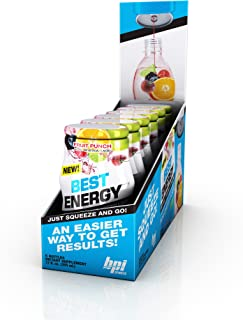 BPI Sports -Energy Liquid Water Enhancer, Fruit Punch, 24 Servings per Bottle, 6 Bottles,
