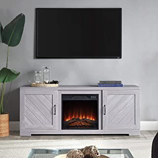 BELLEZE Hilo 58 Inch Fireplace TV Stand Console with Remote Control for TVs Up to..