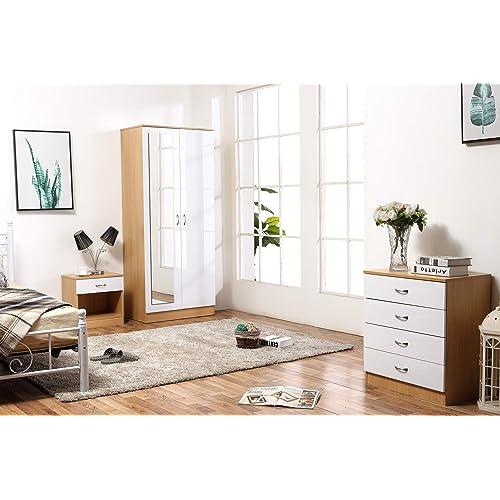 White Gloss Bedroom Furniture: Amazon.co.uk