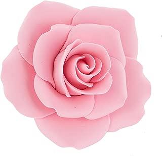 Global Sugar Art Rose Sugar Cake Flowers, Jumbo Pink, 5 Count by Chef Alan Tetreault