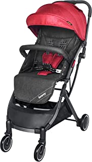 besrey Baby Lightweight Stroller Kids Pushchair with Pull Rod Easy get on Airplane Cabin - Red