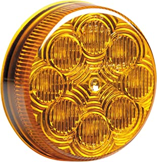 "Maxxima M16280Y Amber 2-1/2"" Round LED Clearance Marker Light"