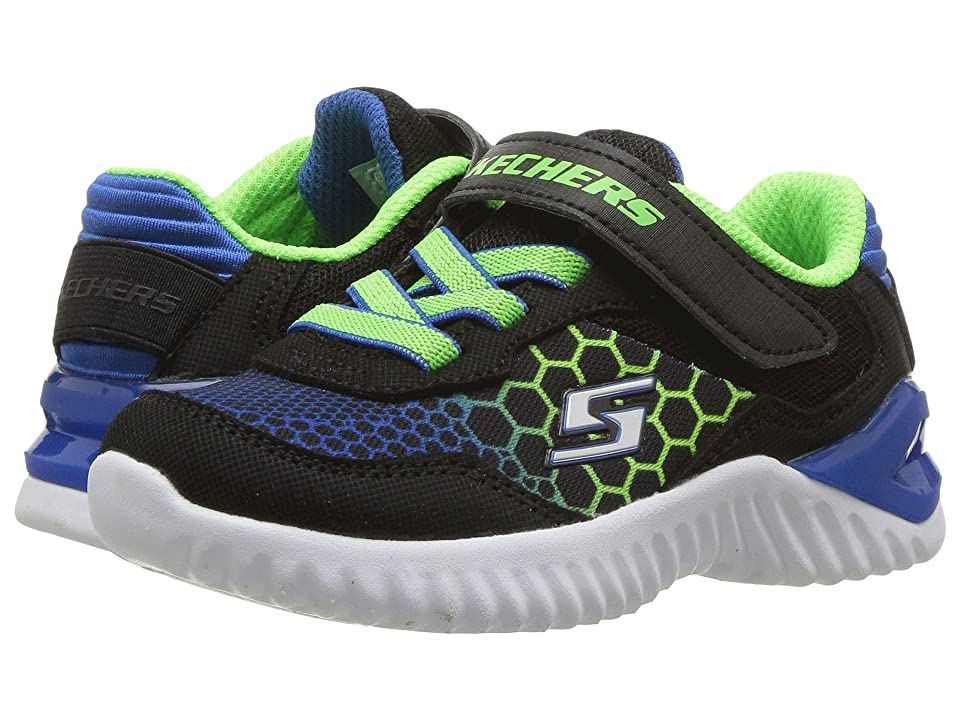 SKECHERS KIDS Ultrapulse Rapid Shift (Toddler) (Black/Blue/Lime) Boy